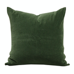 CC INTERIORS Hunter Green Velvet Cushion/Linen Back