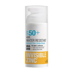 INVISIBLE ZINC 4Hr W/Resistant SPF50+ 100ml
