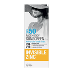 INVISIBLE ZINC Face & Body SPF50 75g