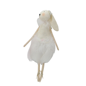 LE FORGE Feather Bunny White