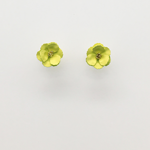 STELLA & GEMMA Earrings Little Bud Green