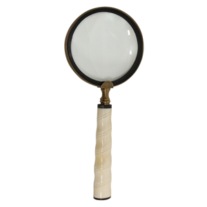 FRENCH COUNTRY Magnifying Glass Ivory Twist Handle