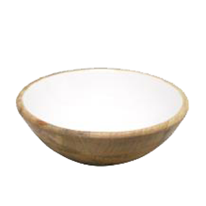 RML Mango Wood Bowl White 20cm