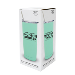 MAYTIME Smoothie Tumbler With SS Straw 500ml Mint