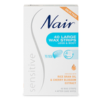 NAIR Sensitive Wax Strips Lrg 40pk