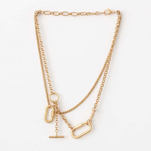 STELLA & GEMMA Necklace Gold Chain Choker