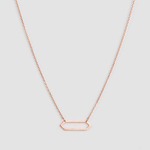 STELLA & GEMMA Necklace Hex Long Rose Gold