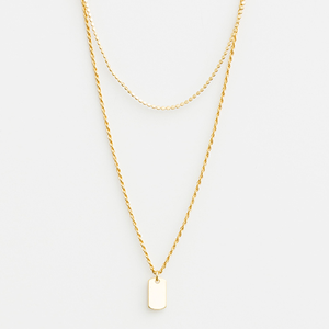 STELLA & GEMMA Necklace Multi Chain Signet Gold
