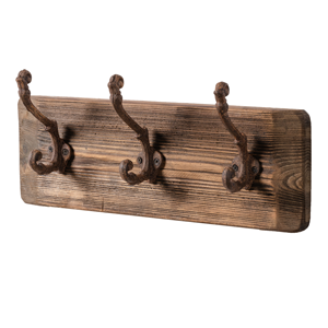 ONE WORLD Natural Timber & Iron Hooks 3 Hooks