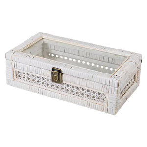 FRENCH COUNTRY Rattan Storage Box 31X17X9.5cm
