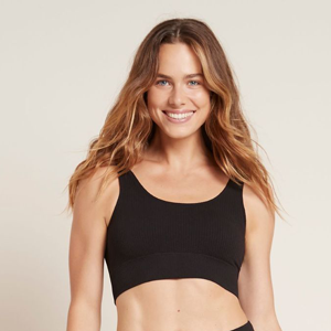 BOODY Ribbed Seamless Bra Black