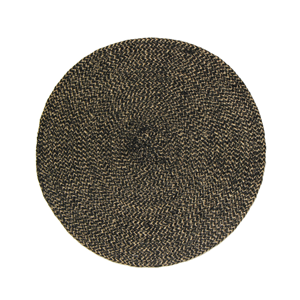 FRENCH COUNTRY Round Placemat Black/Natural Blend