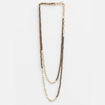 STELLA & GEMMA Necklace Choco Bead Brass Chains