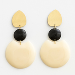 STELLA & GEMMA Earrings Matra Gold/Ecru/Black