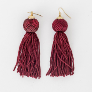 STELLA & GEMMA Earrings Emma Burgundy