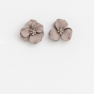STELLA & GEMMA Earrings Flower Grey/Silver