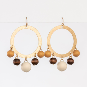 STELLA & GEMMA Earrings Hoop With Multi Beads