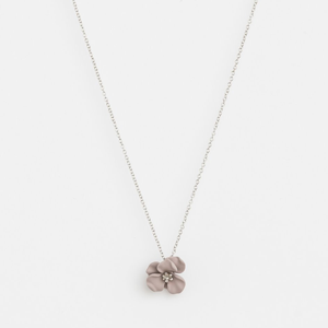 STELLA & GEMMA Necklace Flower Grey/Silver