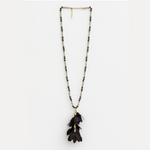 STELLA & GEMMA Necklace Petal/Crystal Black