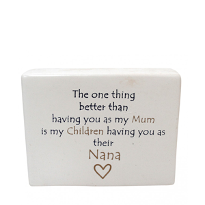 LA VIDA Ceramic Sign Nana Grandchildren