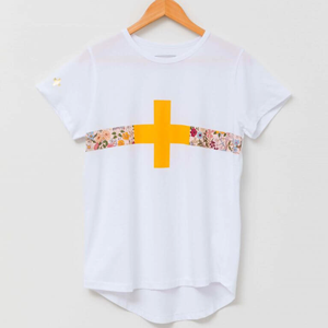 STELLA & GEMMA T-Shirt White With Floral Band