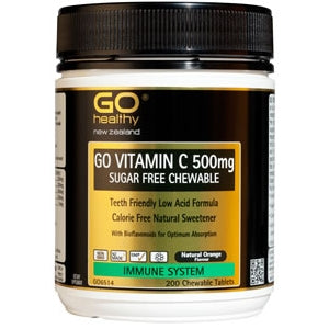 GO HEALTHY Vitamin C 500mg Sugar Free Chewable Tabs 200