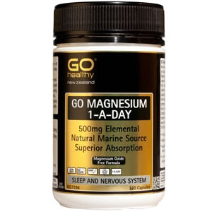 GO HEALTHY Magnesium 500mg 1-a-Day Caps 120