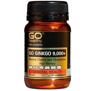 GO HEALTHY Ginkgo 9,000+ Caps 30