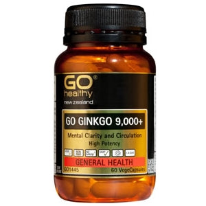 GO HEALTHY Ginkgo 9,000+ Caps 60