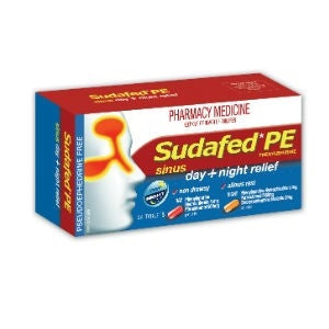 SUDAFED PE Sinus Day & Night Relief Tabs 24