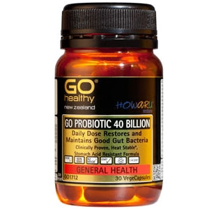 GO HEALTHY Probiotic 40B HOWARU Restore Caps 30