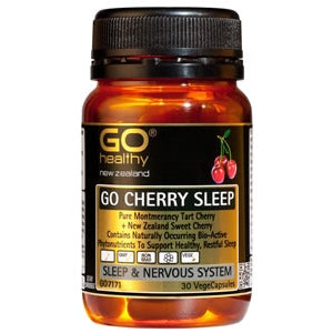 GO HEALTHY Cherry Sleep Caps 30