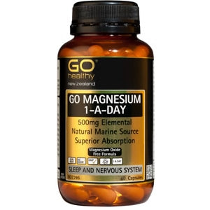 GO HEALTHY Magnesium 500mg 1-a-Day Caps 60