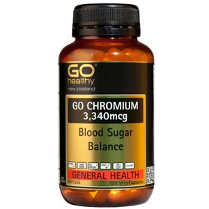 GO HEALTHY Chromium 3340mcg Caps 120