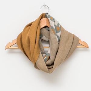 STELLA & GEMMA Scarf Wheat/Leopard Snood