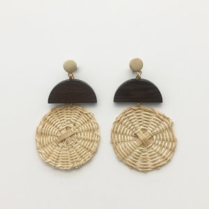 STELLA & GEMMA Earrings Wicker Circle