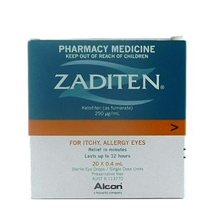 ZADITEN Eye Drops 0.4ml 20 singles