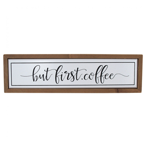 LA VIDA Sign Coffee First
