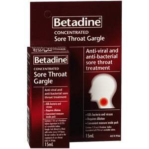 BETADINE Sore Throat Gargle Conc 15ml