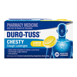 DURO-TUSS Lozenges Chesty Cough Lemon 24