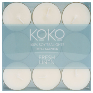 KOKO Fresh Linen Tealights