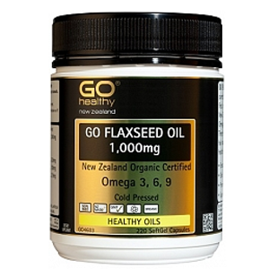 GO HEALTHY Flaxseed Oil 1000mg 220 cap