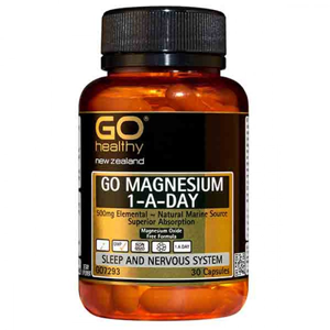 GO HEALTHY Magnesium 500mg 1-A-Day 30Caps
