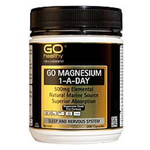 GO HEALTHY Magnesium 500mg 1-A-Day 200 Cap