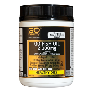 GO HEALTHY Fish Oil 2000mg Odourless 230cap