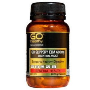 GO HEALTHY Slippery Elm 600mg 60 Vcaps