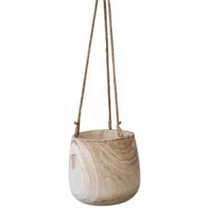 LA VIDA Hanging Pot Natural Large 25X25X23cm