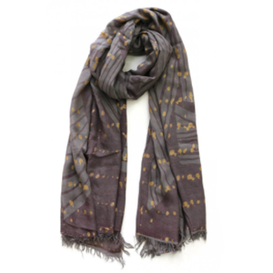 STELLA & GEMMA Scarf Khaki / Brown / Gold