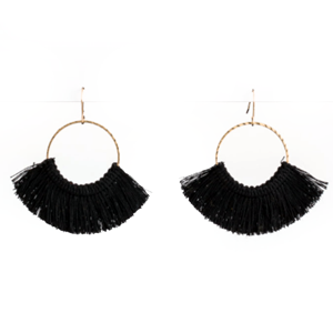 STELLA & GEMMA Navy Cotton Earrings