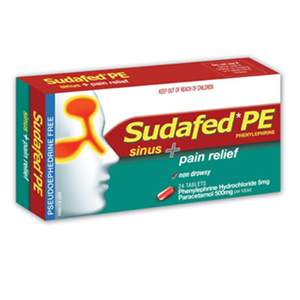 SUDAFED PE Sinus & Pain Tablets 20